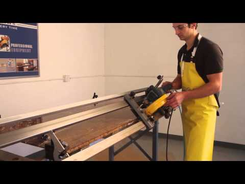 Miter edge cut in quartz & granite - how to for kitchen / bathroom