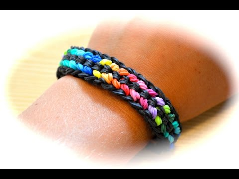 Rainbow Loom Double Capped Dragon Scale Armband (deutsche Anleitung)