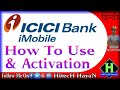 How To Use Imobile App From ICICI Bank || Mobile Banking In Hindi