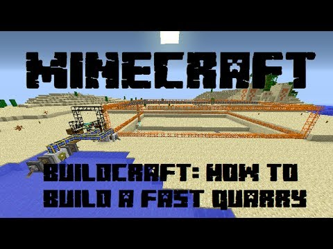 minecraft: how to build a fast quarry (tekkit modpack)