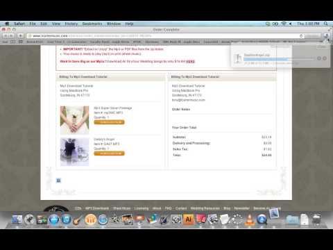 Mp3 Download Tutorial ~ MacBook Pro Version