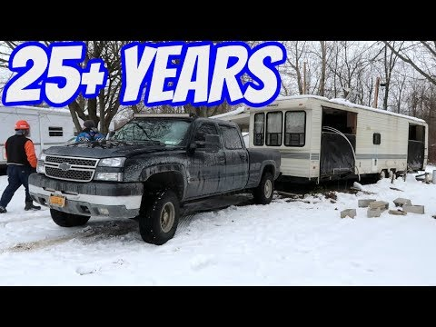 First Time Camper Trailer Moves in 25 YEARS!!!
