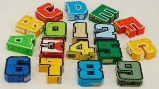 Transformers alphabet number color robot Prime Dinosaur, Dragon, Tank, boat, truck Cars For Kids