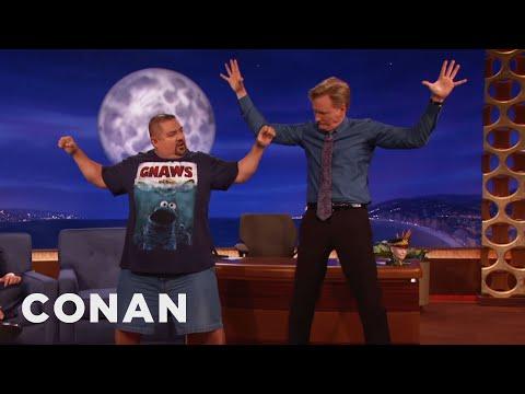 Gabriel Iglesias Teaches Conan Yoga