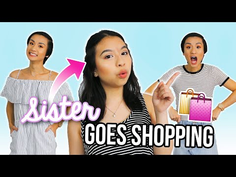 LITTLE SISTER BUYS OUTFITS FOR GAY BROTHER! THE SHOPPING CHALLENGE 2017!