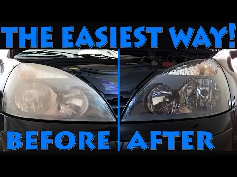 Renault Clio II headlights restoration - the easiest way!