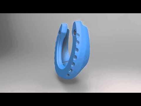 Glushu - precision engineered glue on horse shoe
