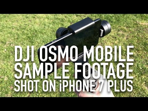 DJI Osmo Mobile gimbal & iPhone 7 Plus 4K sample video footage