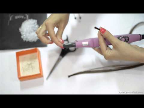 How to pre bond human hair on Italian Keratin Glue