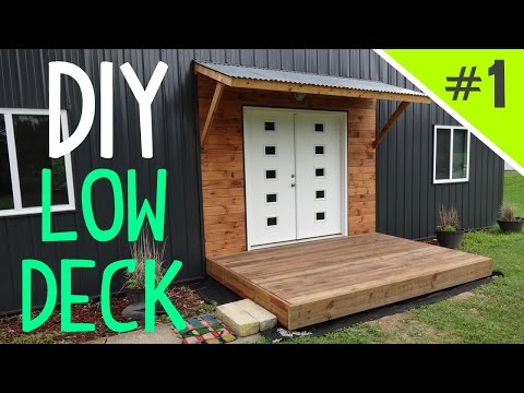 How to Build a Ground Level Floating Deck - Part 1 of 5