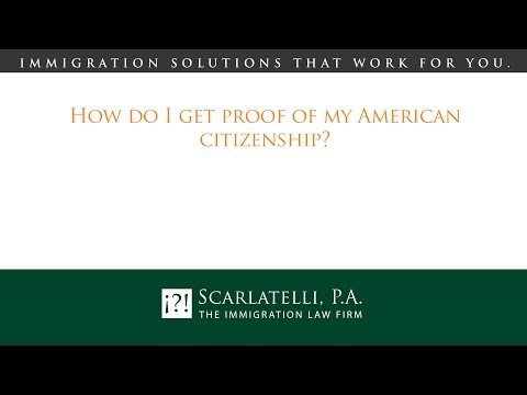 How do I get proof of my American citizenship?