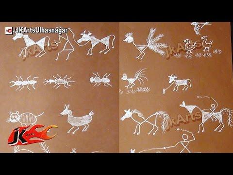 Warli Animal and Bird Paintings - JK Arts 558