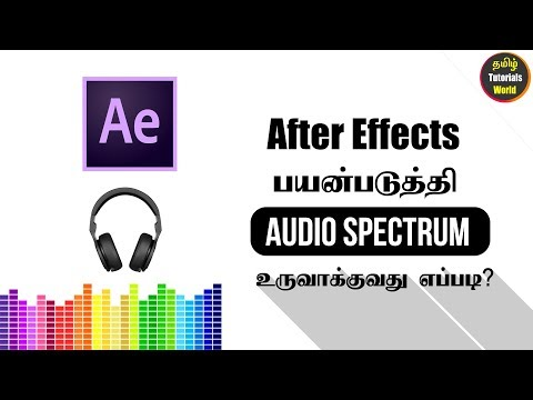 How to Create Audio Spectrum in After Effects Tamil Tutorials World_HD