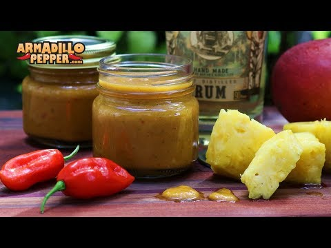 Pineapple and Mango Rum Ghost Pepper Hot Sauce Recipe (How to Make)
