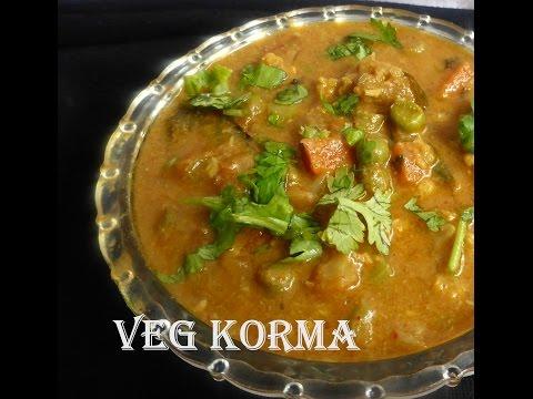 Hotel Style Veg korma - Side dish for parata,chapati,roti