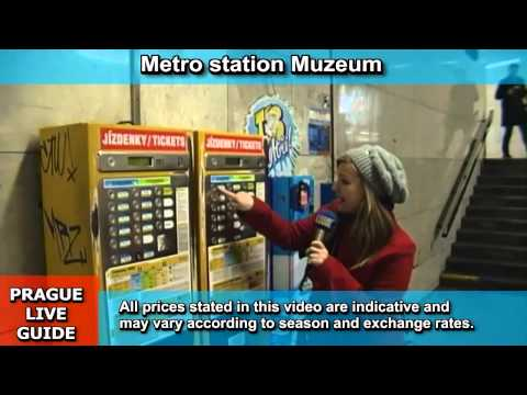 How to purchase ticket for metro, tram and bus in Prague, transport video guide part 2
