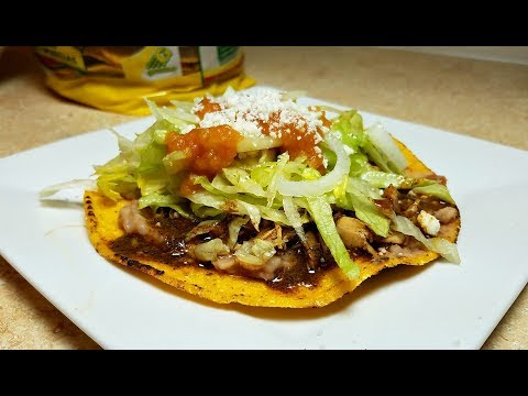 Simple Chicken Tostadas Recipe (Chicken Mole Tostadas)