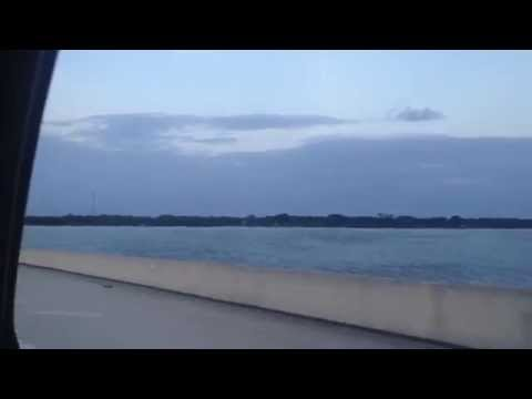Driving into Cape Canaveral and Cocoa Beach (Florida)