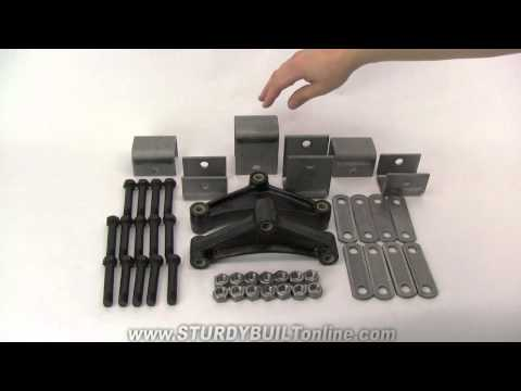 Trailer Tandem Axle Spring Hanger Kit