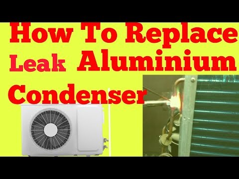 How to Replace Leak Aluminium Condenser with Copper condenser Step by Step in hindi .