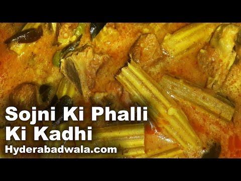Sojni Ki Phalli Ki Kadhi Recipe Video – How to Cook Hyderabadi Drumsticks and Chickpea Flour Curry