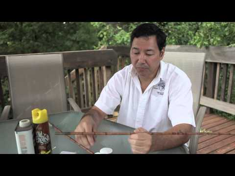 How to Clean the Tips for an Antique Bamboo Fly Rod : Fishing Tips