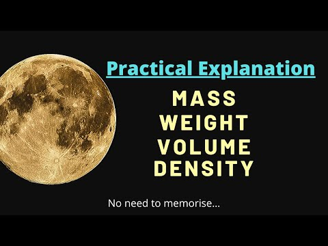 What is mass, weight, volume and density?