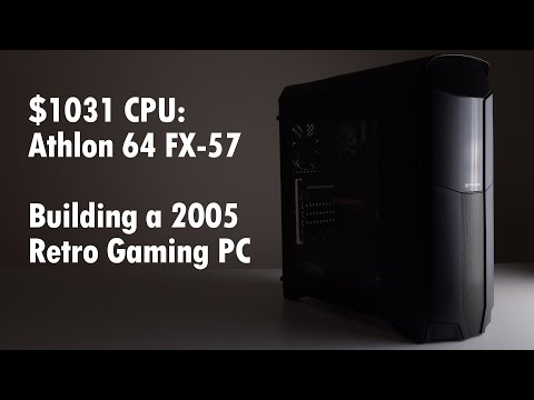 Athlon 64 FX-57 Retro Gaming PC Build ft Thermaltake Versa N26