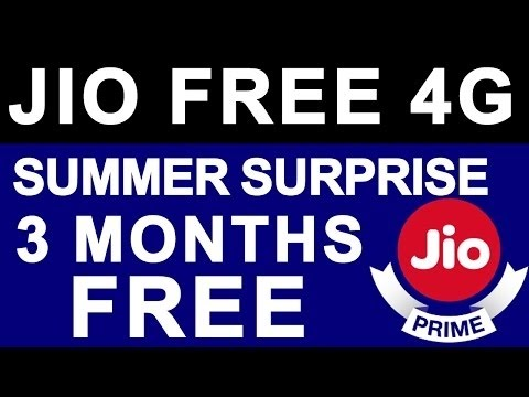 Jio Summer Surprise Offer Launched - till July