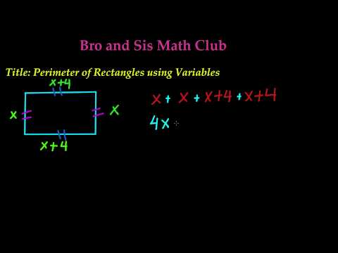 Perimeter of Rectangle using Variables -7th Grade Math