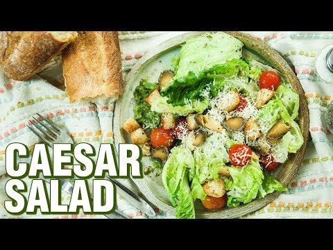 Caesar Salad Recipe | How To Make The Best Caesar Salad At Home | Salad Recipes | Rishim Sachdeva