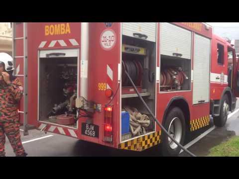 Fire call Kebakaran rumah jalan Teratai 36/8 7-9-17 Malaysia JH