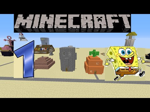 SpongeBob in Minecraft: Bikini Bottom Build Showcase Update #1