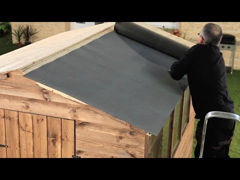 How To Fit Roof Felt on a Shed