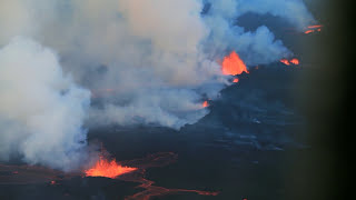 Flying Over Active Volcano in Iceland 2014!