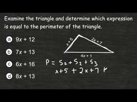 Writing An Expression Representing The Perimeter Of A Triangle