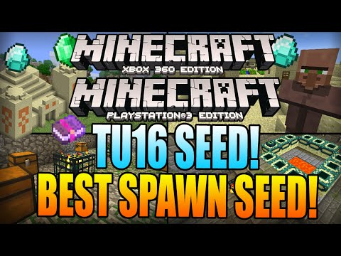 ★ Minecraft Xbox 360 TU16 SEEDS: BEST SPAWN SEED! Double Dungeon, Villages & MORE (Xbox 360/PS3)