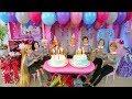 Download  Twin Barbie & Ken&'s Birthday Party With Friends! Pesta Ulang Tahun Barbie Festa De Aniversário  MP3,3GP,MP4