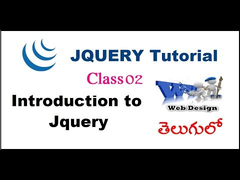 Jquery introduction in Telugu-01-vlr training