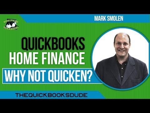 QuickBooks Home Finance - Why Not Quicken