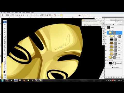 tutorial vector golden anonymous with photoshop cs3