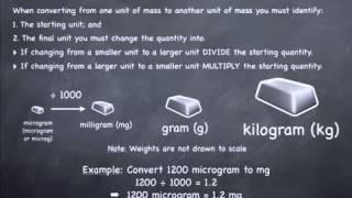 Converting Between Micrograms Mg G And Kg Rules