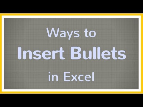 How to Add Bulleted Lists in Excel - Tutorial