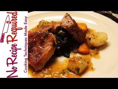 Pork Tenderloin Medallions in White Wine Sauce - NoRecipeRequired.com
