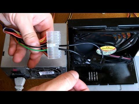 How to power up an ATX Power Supply without a motherboard