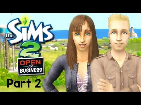 Let's Play : The Sims 2 Open For Business (Part 2) - Meeting Neighbors!