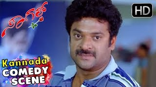 Prajwal Family Recieving Radhika Pandith At Airport - Kannada Comedy Scenes | Sagar Kannada Movie