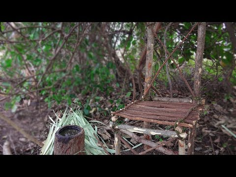 Primitive Technology - How to make a Wood Chair