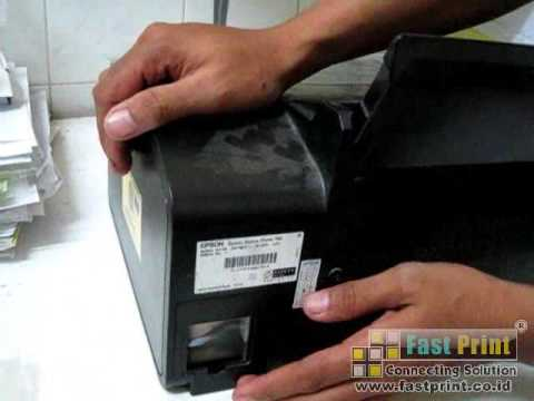 How to install a waste ink bottle on Epson Printer T60