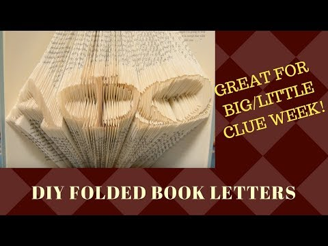 DIY Folded Book Letters